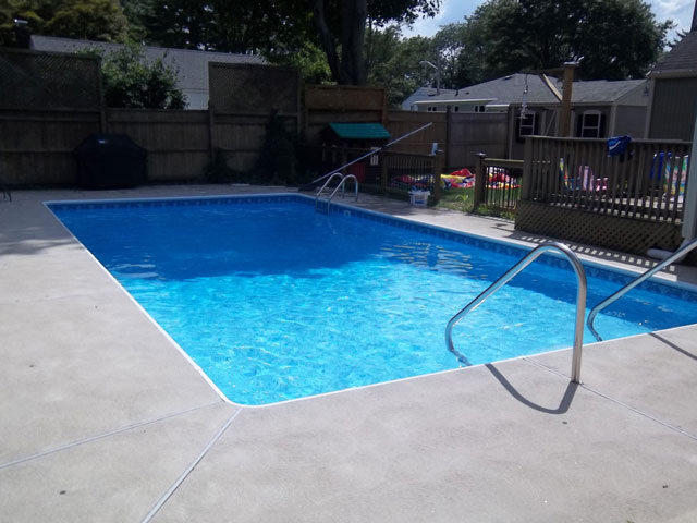 Pool decking options 28 images pool deck materials for Pool design options