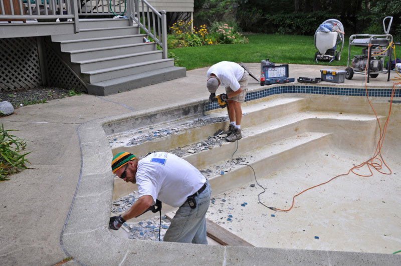 American pool service residential pool renovation for Pool renovations